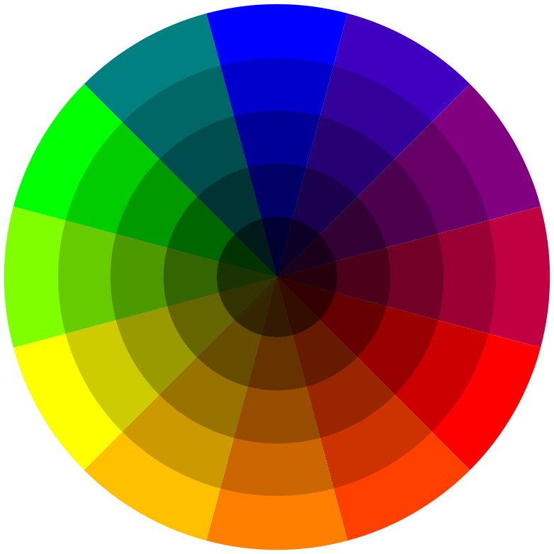 Free coloring pages of colour wheel for Picture of colour wheel